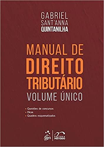 Livros OAB Livro Manual de direito tributário