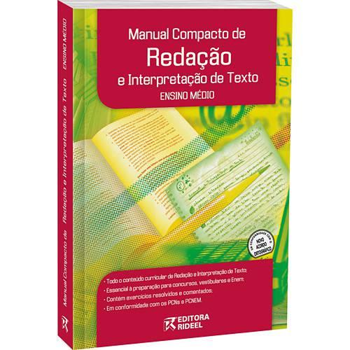 como escrever melhor - Livro Manual Compacto de Redação e Interpretação de Texto
