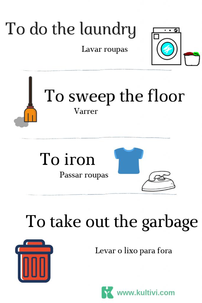 tarefas domesticas em ingles - blog kultivi