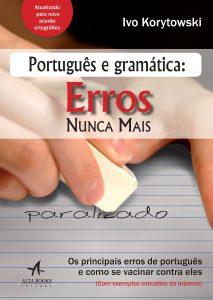 capa do livro com o título português e gramática: erros nunca mais. Clique para conhecer o livro